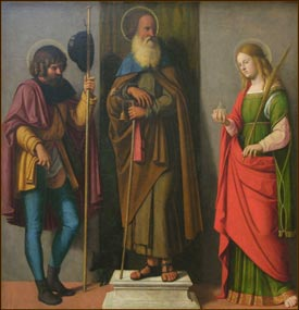 Giovanni Battista - Three Saints: Roch, Anthony Abbot, and Lucy