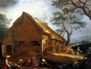 Abraham Bloemaert - Farmhouse with the Prodigal Son