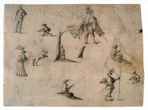 Jacques Callot - A Sheet of Sketches