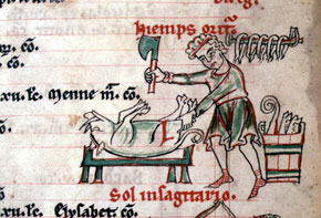 Cistercian Psalter - November: Killing the Pig