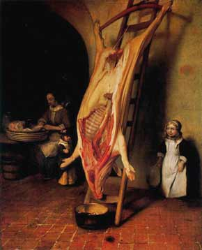 Barent Fabritius - The Slaughtered Pig