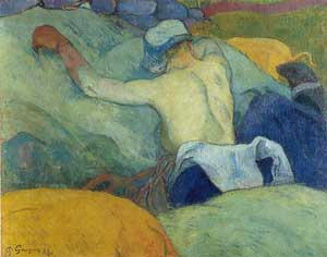 Paul Gauguin - Woman in the Hay with Pigs