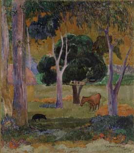 Paul Gauguin - Landscape with Pig and Horse