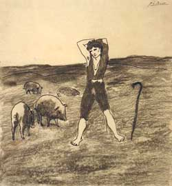 Pablo Picasso - The Swineherd