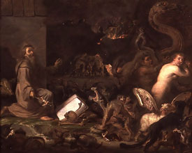 Cornelis Saftleven - The Temptation of St. Anthony